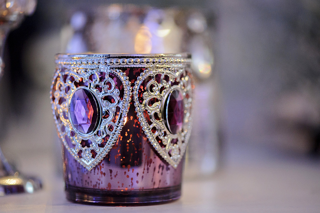 Purple Vintage Votive